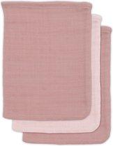 Jollein Bamboe washandje Pale pink (3pack)