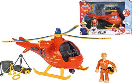 Brandweerman Sam Helikopter Wallaby incl. Figuur