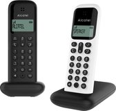 Alcatel D285 DUO draadloze huistelefoon voor de vaste lijn | Zwart + Wit