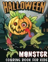Halloween Monster Coloring Book For Kids