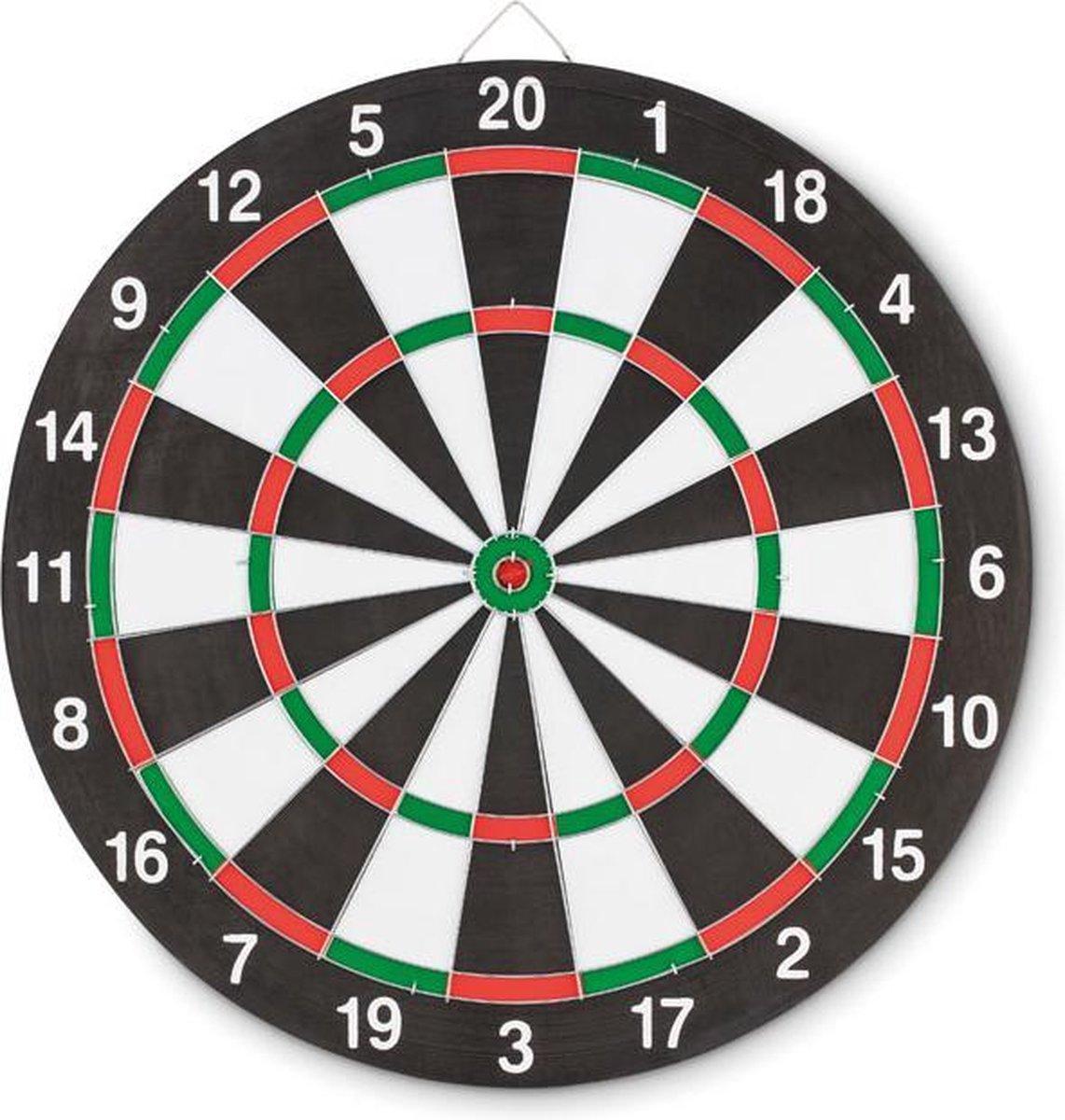 Dubbelzijdig dartbord incl. 3 dartpijlen - Dartborden volwassenen incl. dartpijltjes - Dartborden kinderen - Dartborden - Dartboard sets - Dartboards - Dartkabinetten - Dartspullen - Spelkamer - Spellen -