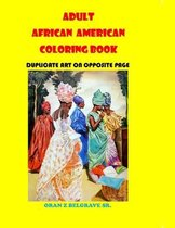 Adult African American Coloring Book