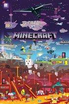 Minecraft poster -World beyond-video-game 61 x 91.5 cm