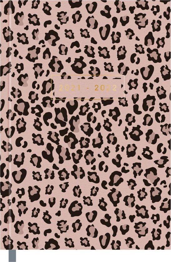 Afbeelding van Hobbit schoolagenda 2021-2022 - BASIC PANTER POEDERROZE - gebonden - leeslintje - 7 dagen over 2 paginas - harde kaft - 144 paginas - panter roze - ongeveer A5 formaat