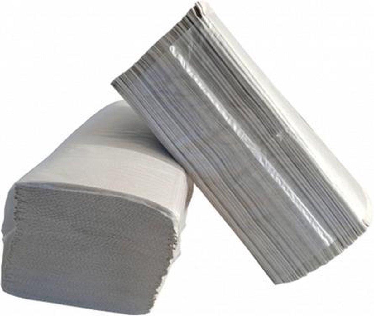 Handdoekpapier Z-vouw naturel 1-laags 23x25 cm - 20x250 stuks