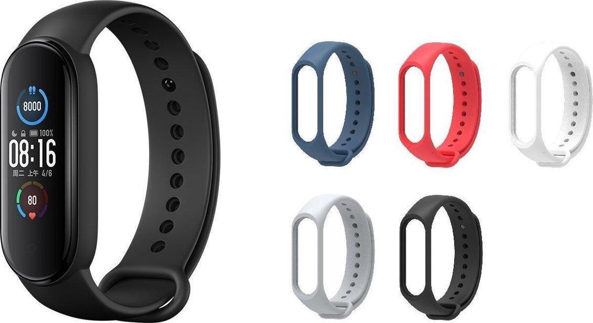Xiaomi Mi Band 5 Smartwatch Europese Versie met 5 TECHPUNT kleurenbandjes