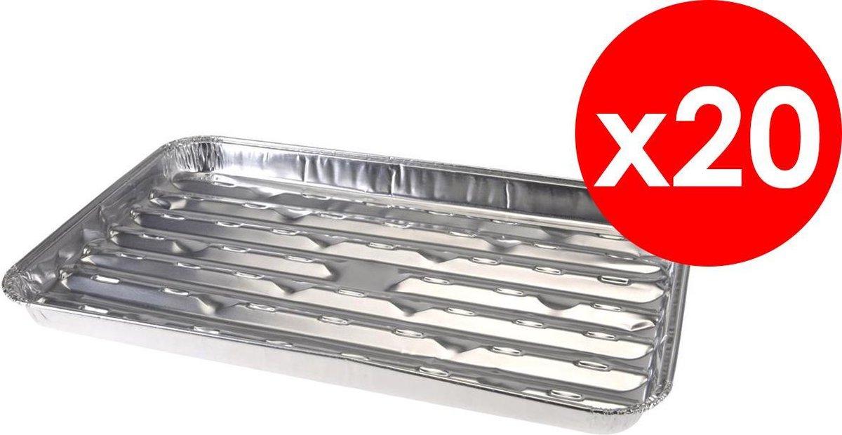 Aluminium grillschalen - BBQ Schalen - Aluminium schaal Barbecue - 5 x 4 (20) stuks - Voordeelverpakking - 34 x 23CM