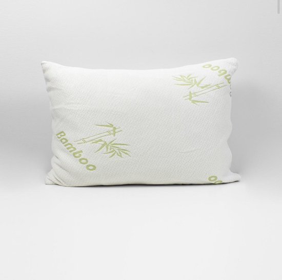 bamboe kussen- memory foam- traagschuim- 48x60cm- anti allergieën - anti snurk- zacht, koel & drukverlagend