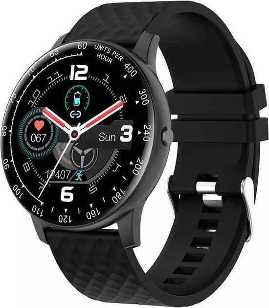 Royal supplies KV-97 Smartwatch -Stappenteller -Sport horloge - Smartwatch Dames - Smartwatch Heren- Smartwatch Kinderen-Activity Tracker -Bloeddrukmeter -Hartslagmeter - Afstandmeter -Calorieënteller -Fitness Tracker-Smartwatch Android & iOS -Zwart