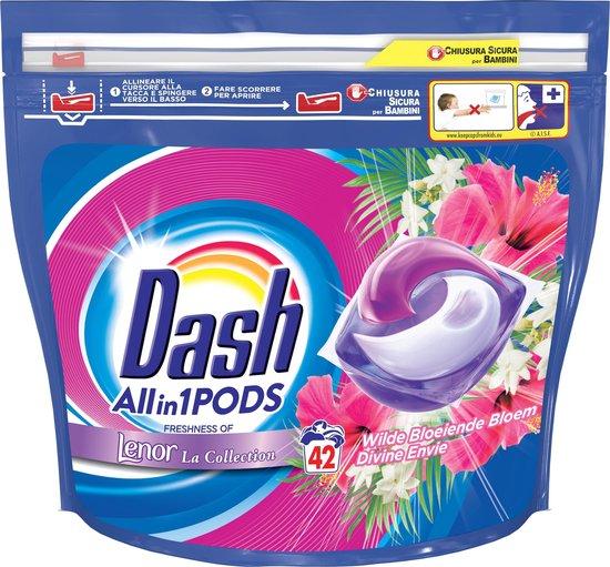 Dash Allin1 Pods Wilde Bloeiende Bloem Wasmiddel - Voordeelverpakking 2 x 42 Wasbeurten - Wasmiddel Pods