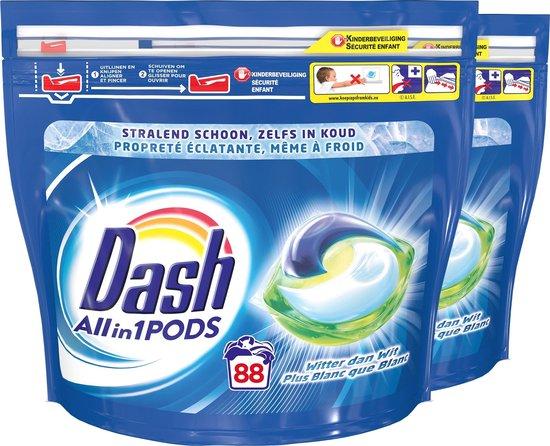 Dash Allin1 Regular Wasmiddel - Voordeelverpakking 2 x 44 Wasbeurten - Wasmiddel Pods