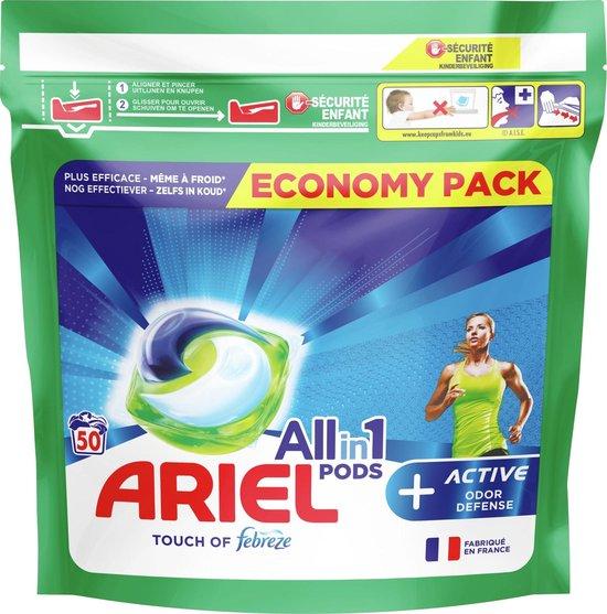 Ariel All-in-1 Pods + Actieve Geurbestrijding Wasmiddel - Voordeelverpakking 2 x 50 Wasbeurten - Wasmiddel Pods