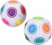2 x Magic Puzzle Ball Rainbow- Fidget Toys- Anti-Stress