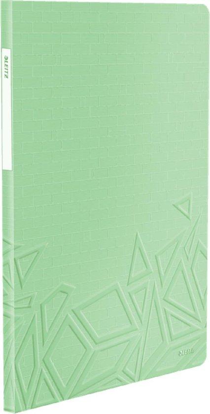 Leitz Urban Chic Showalbum Voor 80 Vel Met 40 Insteekhoezen - Map Voor A4 Documenten - Ideaal Voor School Of Studie - Groen