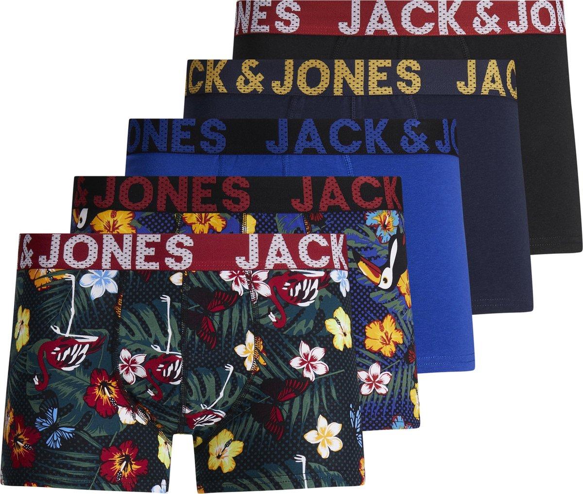 JACK&JONES ACCESSORIES JACPRINTED TRUNKS 5 PACK Heren Onderbroek - Maat M