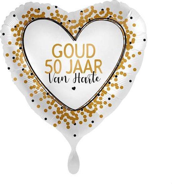 Everloon - Goud 50 Van Harte - 43cm - Voor huwelijk jubileum