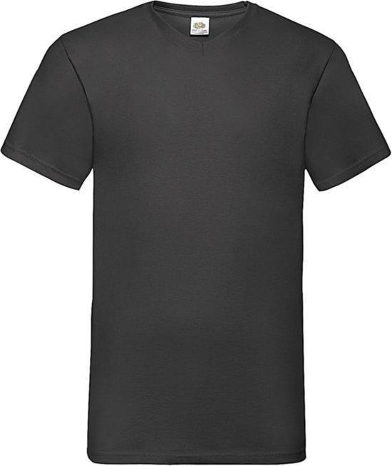 5-Pack Fruit of the Loom T-shirts - V-hals - Zwart - Maat L