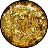 Eulenspiegel Goud - Juweel (grof) Holografisch Strooi Glitter 2 gram