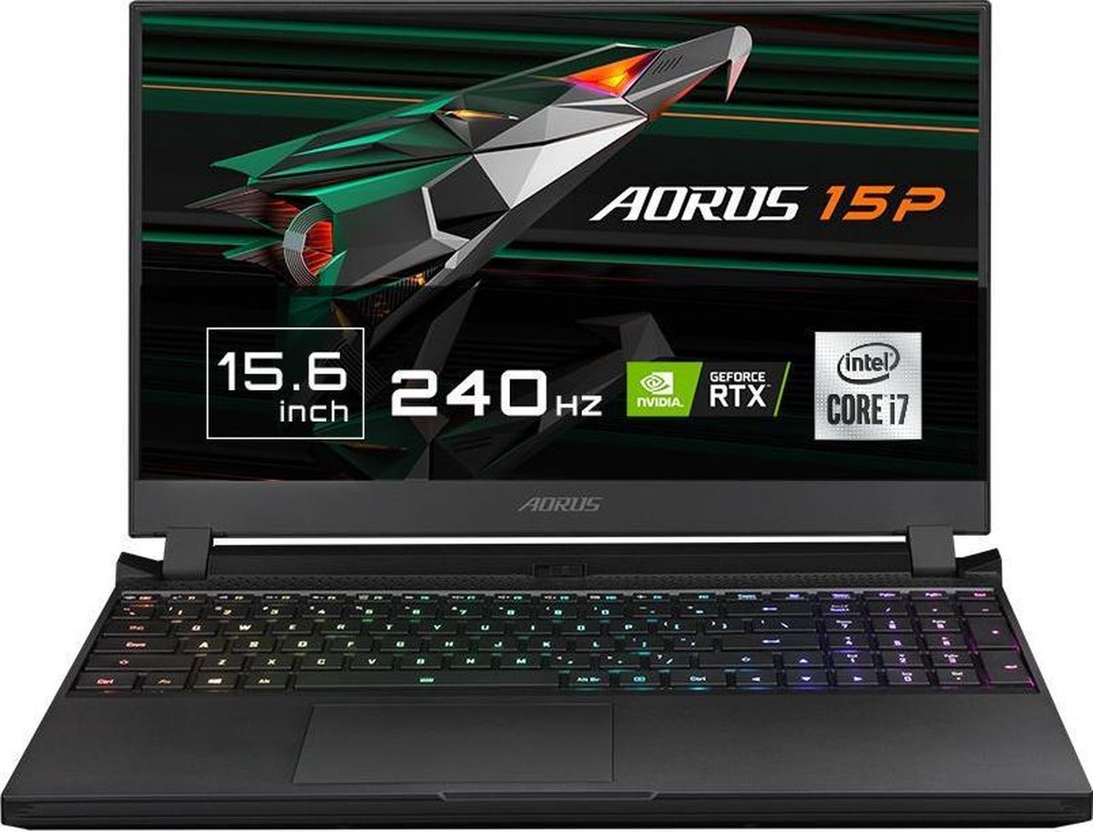 "Gigabyte AORUS 15P XC - Gaming Laptop - NVIDIA GeForce RTX 3070 8 GB - 15.6"" 240Hz FHD - Intel Core i7-10870H - 32 GB RAM - 512 GB SSD PCIe NVMe - Windows 10 Home"