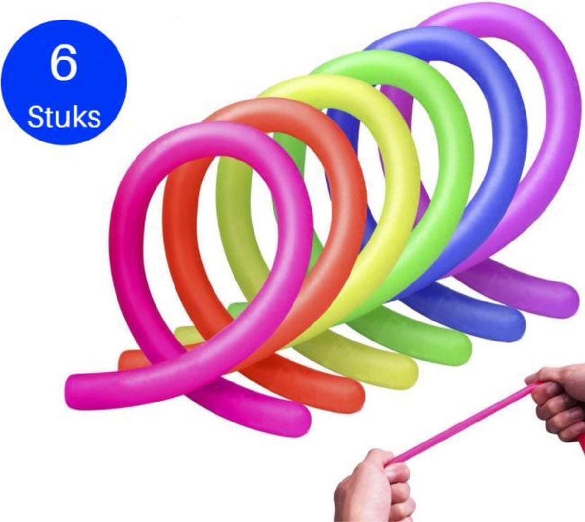 LUVIQ Monkey Noodles - Fidget Toys - Stretchy String - 6 stuks