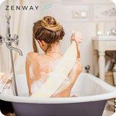 Zenway™ Loofah Rug Scrubber - Douchespons - Rugborstel voor Douche & Bad - Wit - 70 cm