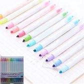 Afbeelding van 12 Pastel Deluxe Bullet journal pennen - Stiften Kinderen - Mildliners - Pastel Markeerstiften voor Volwassenen - Bullet journal Producten accesoires - Markeerstiften pastel - Twinmarkers - Twinmarker stiften - Kado vrouwen - Vrouwen cadeautjes