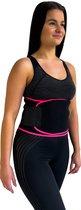 Zweetband Buik - Afslankband Buik - Waist Trainer - Waist Shaper - Sauna Band - Sauna Belt - One Size - zwart/roze