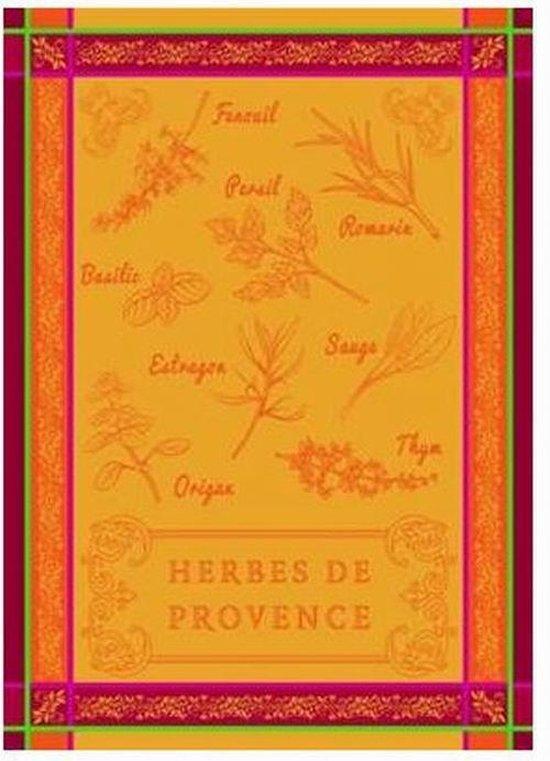 Theedoek Herbes de Provence Set van 2 keukendoeken