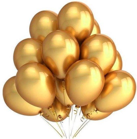 10 Ballonnen Chrome goud Feest Balonnen Party Metalic - Versiering - Lets Decorate®