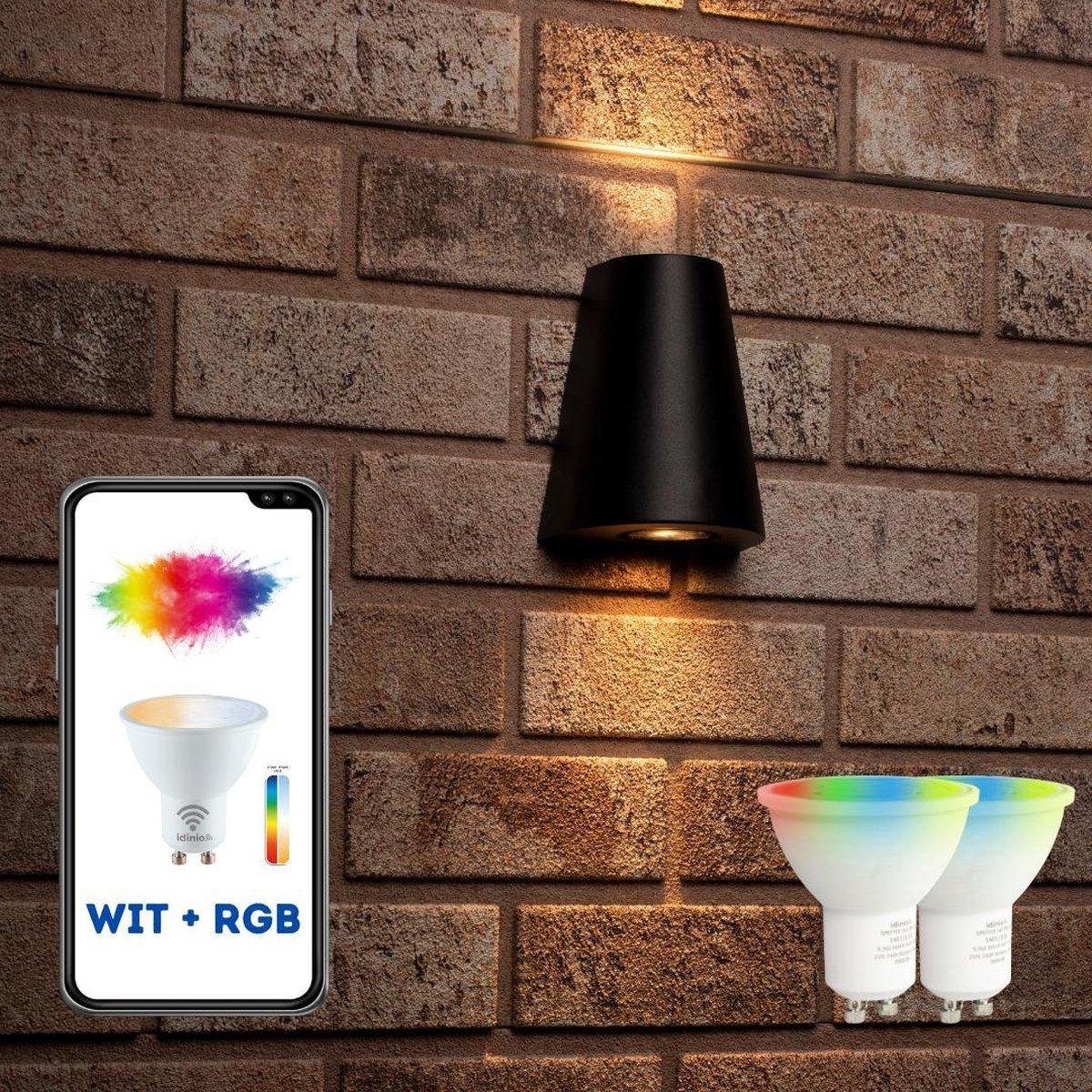 Proventa Slimme buitenlamp - Wandlamp Model G - White & Color - 1 x LED Muurlamp