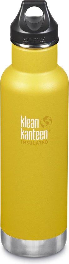 Klean Kanteen Thermos 20oz - Mat geel