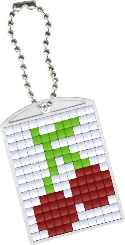 Afbeelding van Pixel hobby 10 blanco sleutelhangers met kettinkje speelgoed