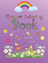 Flowers coloring book for kids ages 4-8