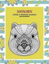 Livres a colorier Mandala - Gros caracteres - Animaux