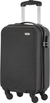 TravelZ Horizon Handbagagekoffer - 54cm Handbagage Trolley met gevoerde binnenkant – Zwart