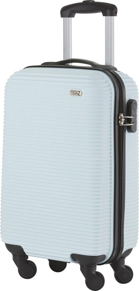 TravelZ Horizon Handbagagekoffer - 54cm Handbagage Trolley met gevoerde binnenkant – Baby Blauw