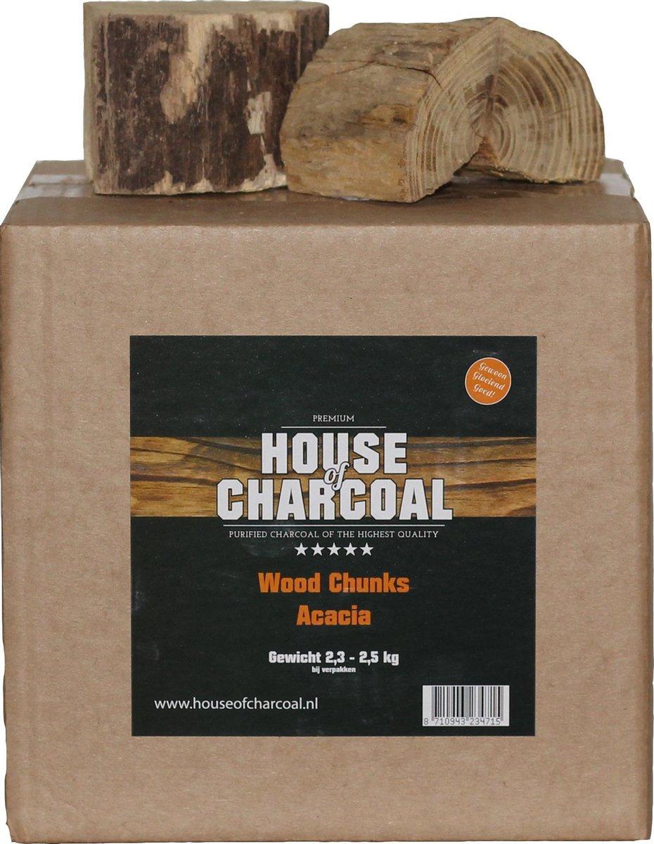 Rookhout Chunks Acacia - Chunks Acacia smoking wood - 2,5 kg