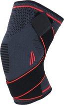 Boersport ® | Orthopedische kniebrace| Kniebandage tijdens sporten | Dames & Heren |Rood | XL