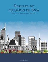 Perfiles de ciudades de Asia libro para colorear para adultos 1