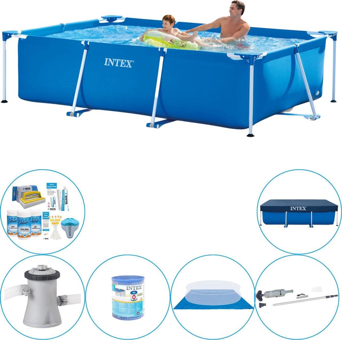 Intex Rechthoekig Zwembad - 260 x 160 x 65 cm - Compleet pakket
