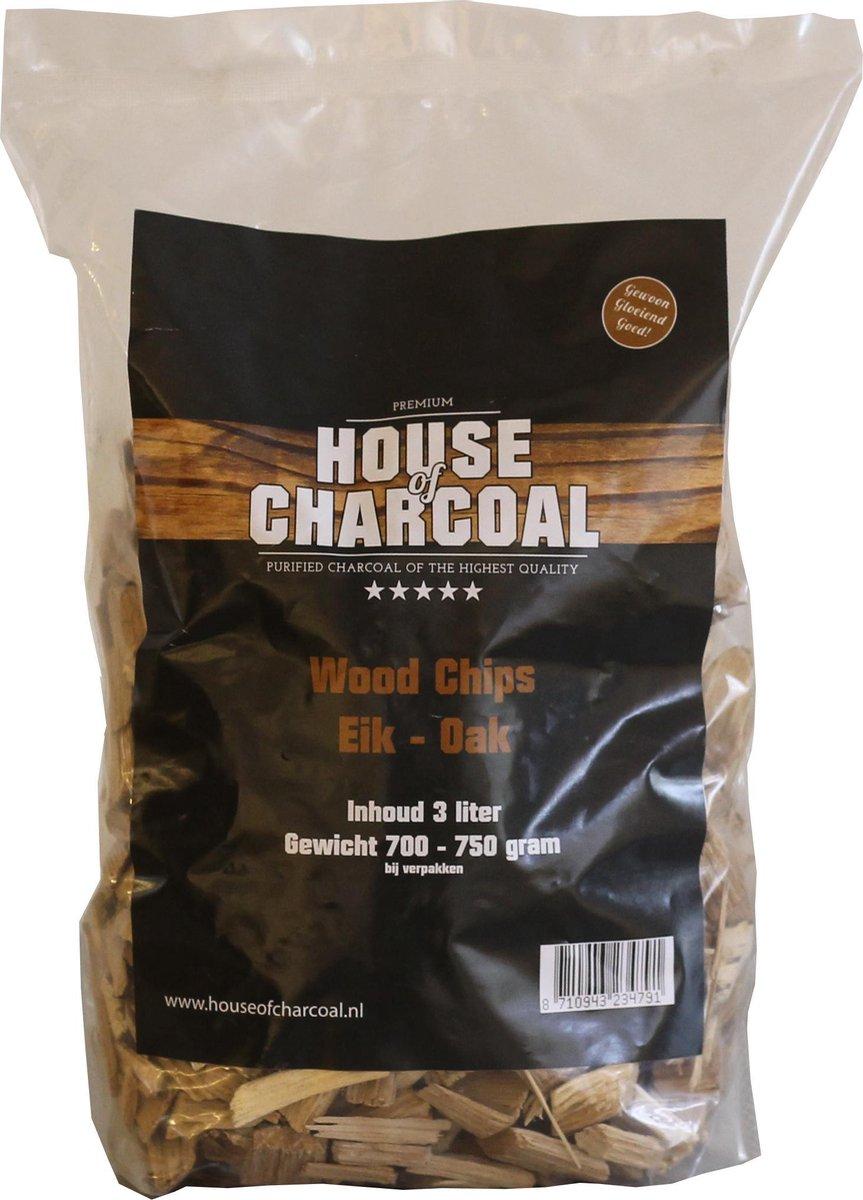 Rookhout snippers Eik - Wood chips Oak - 3 liter