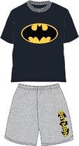 Batman pyjama - maat 128 - Bat-Man shortama - zwart shirt met grijze broek