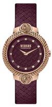 Versus Versace Mouffetard - Dameshorloge - VSPLK1420 - Rosegoud - Bordeaux - Lederen horlogeband - 38 MM