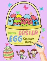 Happy Easter Egg Coloring Book