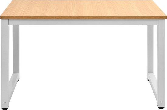 Afbeelding van Modernluxe Bureautafel - Aanpasbaar Onderstel - Wit