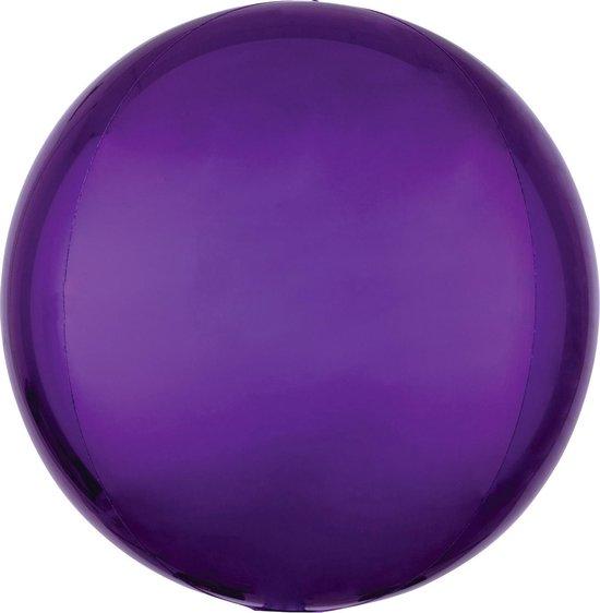Orbz mat paars folie ballon.