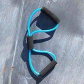 Hidalgo Fitness elastieken zwarte zachte handgreep kleur blauw DUO verpakking 2 stuks