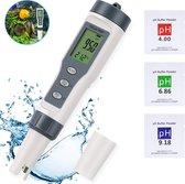 M-Iconic pH meter - Aquarium thermometer - Thermometer water - pH meter water - TDS meter - pH meter digitaal - Jacuzzi accessoires - voor Aquarium, zwembad, vijver en drinkwater - Grijs