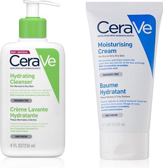 Beste Combi CeraVe - CeraVeCleansers 236ml + CeraVeMoisturizers 50ml + Professional Face Care Vitamin C - Reinig en Hydrate Pack