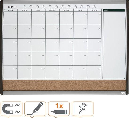 Nobo Combibord Planning - Maandplanner - Prikbord 58,5 x 43,0 cm - inclusief...